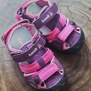 Like New Kamik Pink & Purple Adventure Sandals